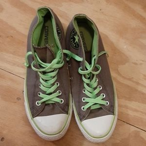 Converse all star green and gray. Womens 10 men 8